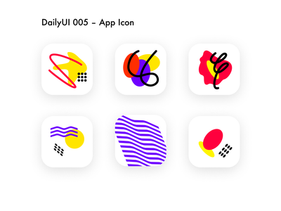 App Icons - DailyUI 005 vivid colors vivid abstract appicon icon logo dailyui