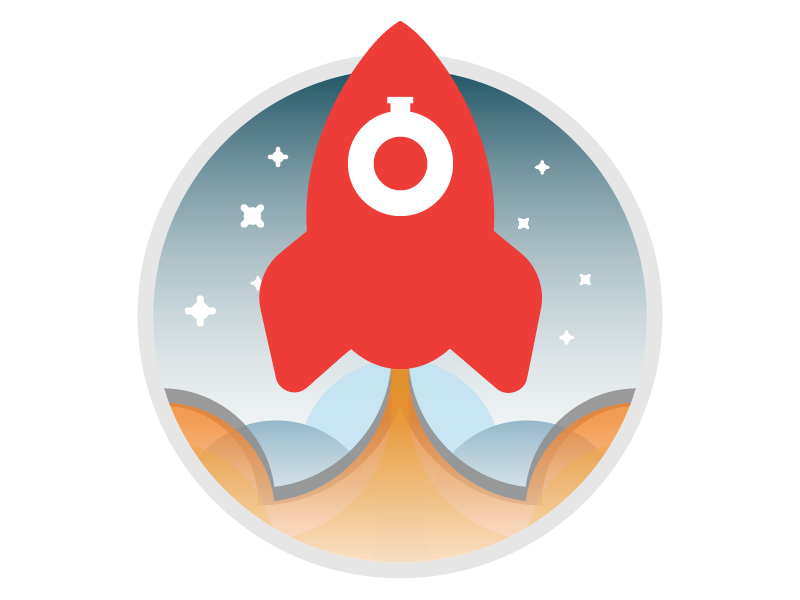 Ready to go live? space vintage retro on boarding vector rockets