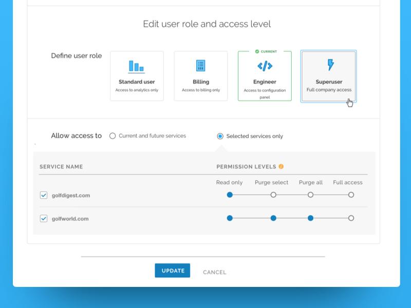 Role based access controls rbac access users user management enterprise ui