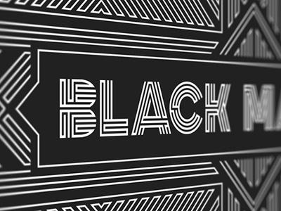 Black Market logo identity branding pattern packaging