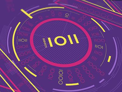 November Calendar  circular days purple monthly november 2016 calendar system binary