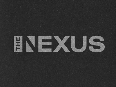 The Nexus negative space logotype identity logo