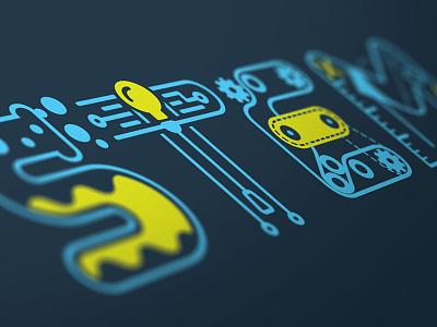 stem illustration vector logo technology engineering science math steam learn school stem