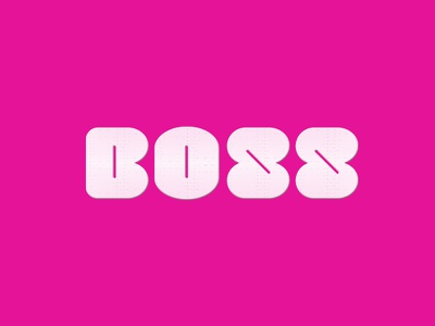 BOSS pink boss brand identity logo