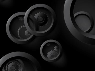 Experimental sureal gears rings circles sureal gears