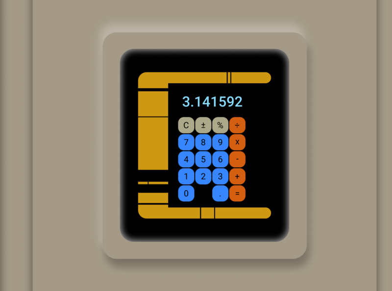 Star Trek Calculator ux ui vector design calculator star trek