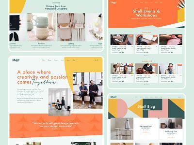 Shelf Website branding shop ui design brand identity illustration design ux ui web design website
