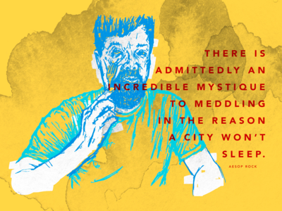 Aesop Rock Illustration
