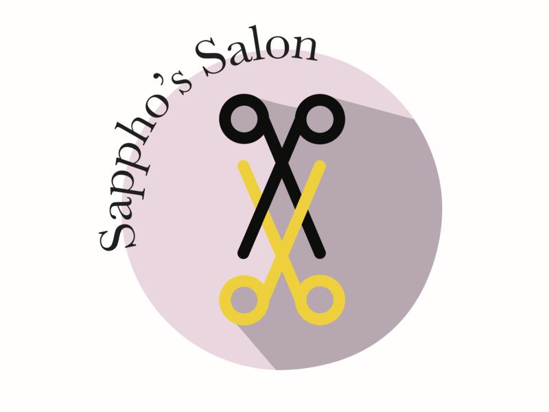 Sappho's Salon identity illustrator design illustration vector minimal logo design branding logo design logo icon flat branding design branding brand identity