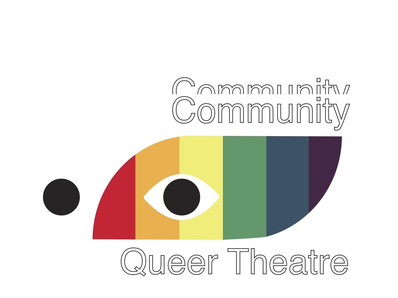 Community Queer Theatre art clean typography type lettering illustrator illustration identity vector minimal logo design branding logo design logo icon flat design branding design branding brand identity