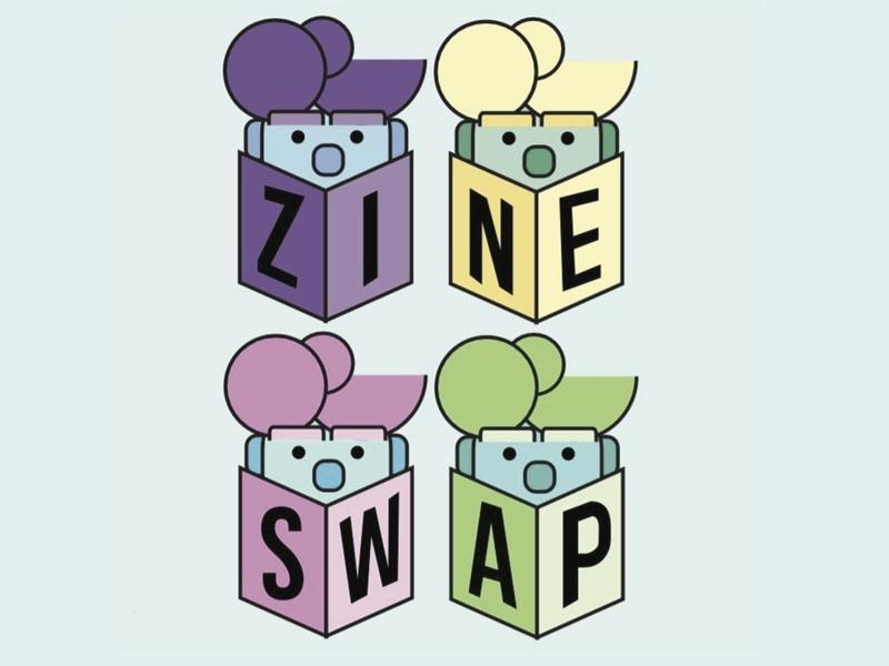 Zine Swap character design clean vector minimal logo design logo illustrator illustration identity icon flat design branding design branding brand identity