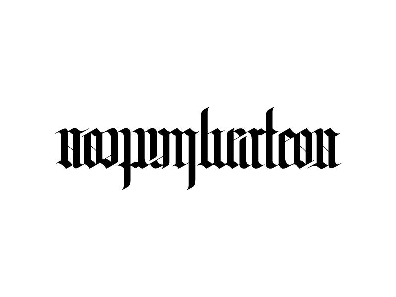 Nonumberless Ambigram ambigram typography design logo nonumberless