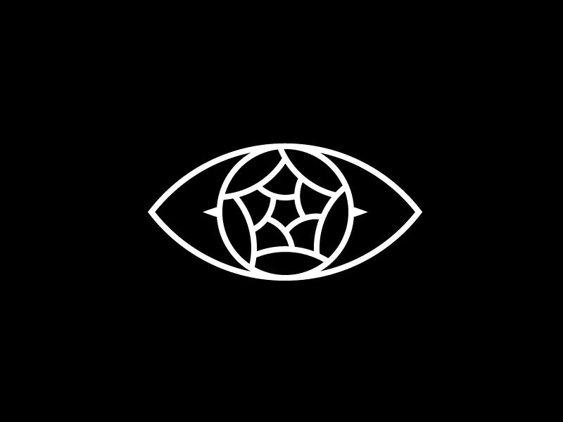 Evil Rose design eye lens icon rose