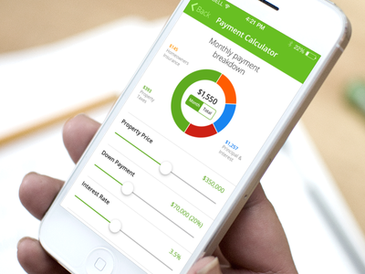 Trulia Payment Calculator ios light clean calculator mortgage real estate flat ui simple data ios7