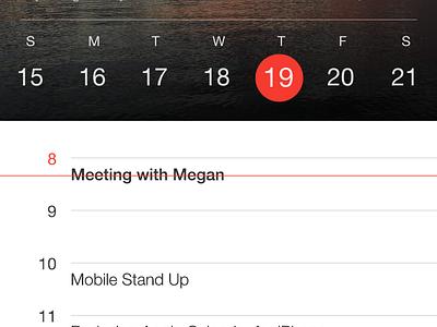 Apple Calendar Redux background iphone simple clean flat ios7 ios cal redux calendar apple