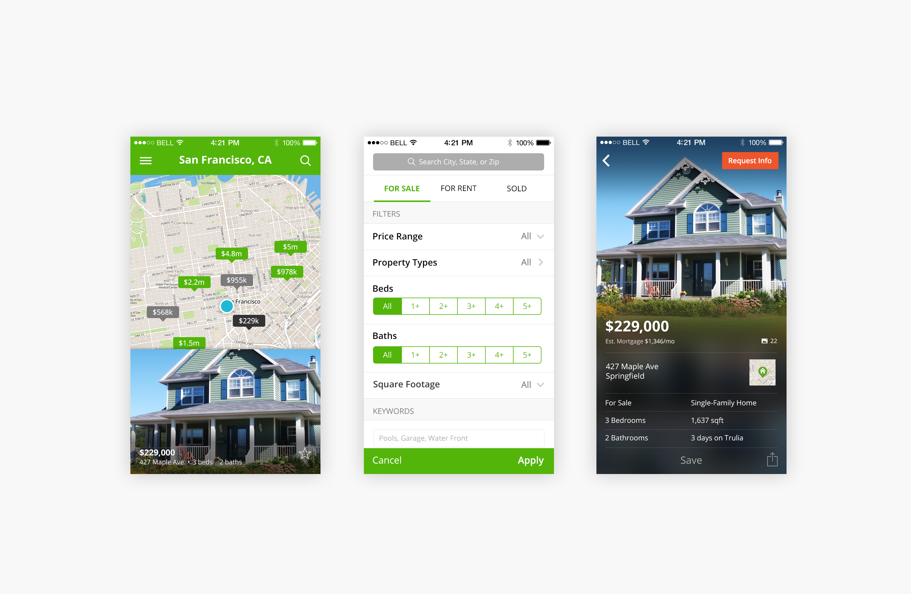 Trulia ios7 full dribbble