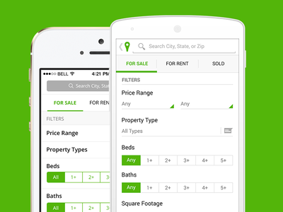 Trulia Android Filters android ui filters real estate ios7 ios flat clean simple search maps google