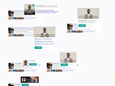 Topic Profile Popover clean web minimal website button design feed music popover profile yahoo article