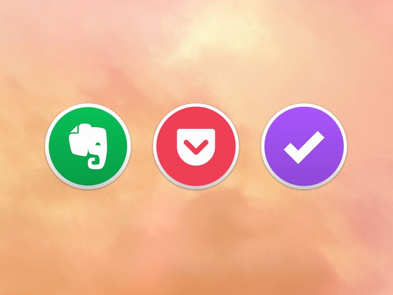 Yosemite Icons mac browser yosemite dock pocket icons evernote omnifocus