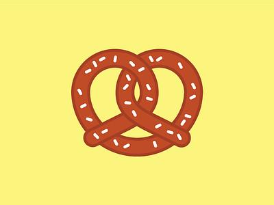 Boring Pretzel icon cheese salt food illustration pretzel