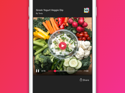 BuzzFeed Mobile Video Player feed news app player video media content buzzfeed mobile ui iphone ios