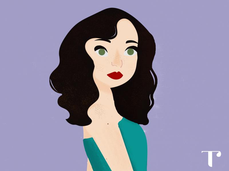 self portrait design illustration