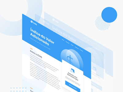 Landing Page - ICMS saas brasil brazil userinterface ui design illustration uidesign