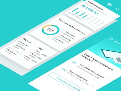 App Vendas para Pequenos Lojistas ecommerce analytics store logo ux ui brasil illustration brazil userinterface design uidesign ui