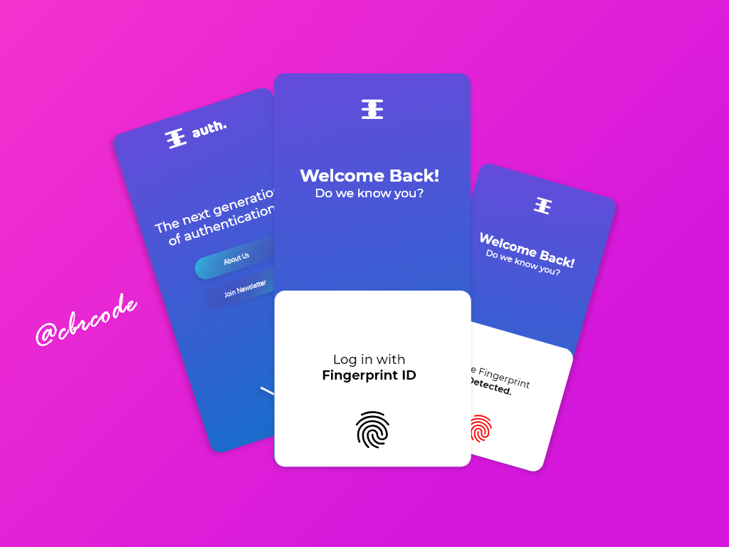 auth. minimal vector flat mobile app ux ui design