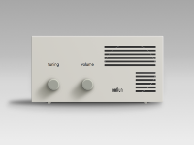 braun vintage radio receiver by kyle penn dribbble. Black Bedroom Furniture Sets. Home Design Ideas