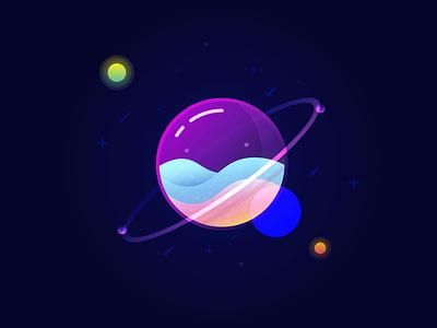 Glass Planet Vector Illustration adobe illustrator tutorial adobe illustration vector illustration vector art vector adobe illustrator illustration
