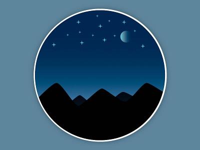 Night Sky design vector adobe illustrator illustration