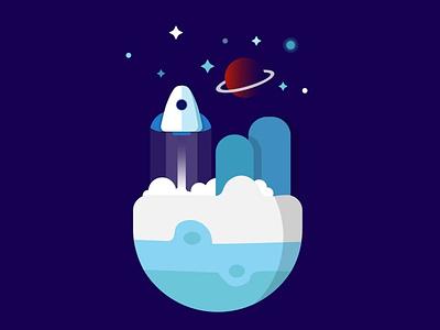 Spaceship vector illustration vector art vector design illustration adobe illustrator