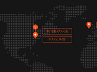 World Map - Pin location