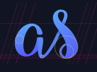 Lettering 'as'