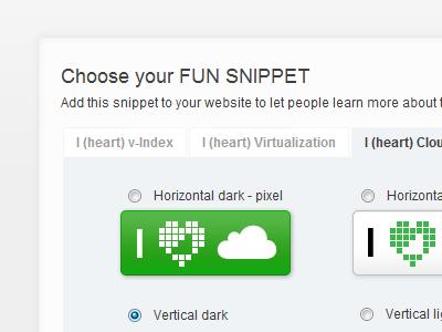I [heart] Cloud snippet v-index