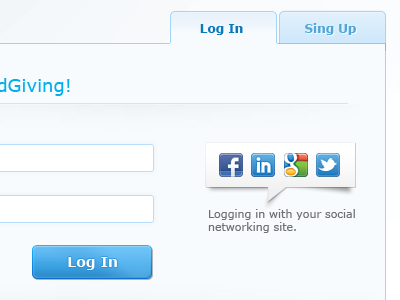 LogIn page web web design design