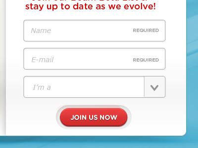 Register form web design landing page webdesign