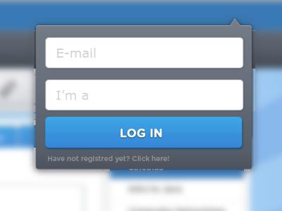 Login form web design ui webdesign