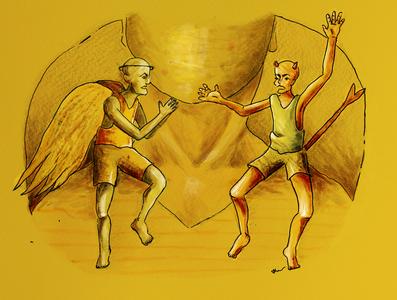 Angel y Diablito