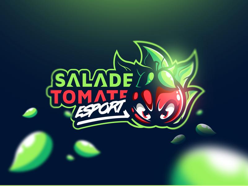 Salade Tomate eSport illustration gaming mascot esport morlaix graphiste bretagne logo laureaux didier