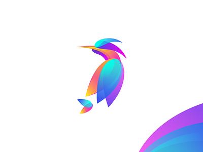 Bird Gradient Logo colorful gradient graphiste laureaux didier logo design logo