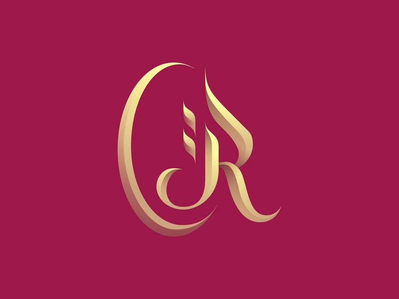 R + Oriental Logo branding graphiste laureaux didier restaurant arabic arab oriental logo r logo letter r