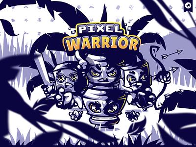 Pixel Warrior Illustration mascot esport gaming behance illustration branding logo character design character