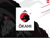 Ôkami Team - Redesign Logo laureaux didier chinese japan oriental japon wolf identity design logo design branding logo