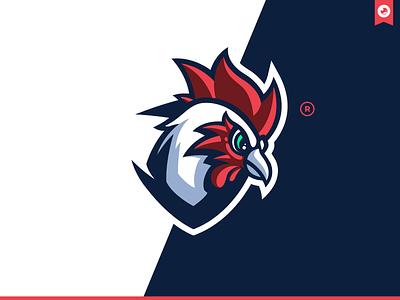 Cock Mascot Logo bretagne graphiste laureaux didier mascot logo brawlhalla esport gaming illustration branding logo mascot chicken cock