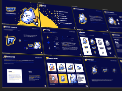 Frost Tails Guideline bretagne graphiste laureaux didier japan mask kistune logo mascot gaming esport