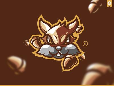 Squirrel Mascot Illustration identity bretagne graphiste laureaux didier gaming esport illustration logo mascotlogo mascot squirrel