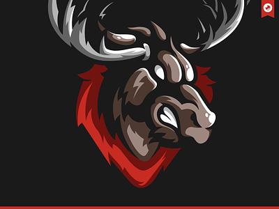 Moose Wars Mascot Illustration bretagne graphiste laureaux didier logo illustration esport gaming mascot moose