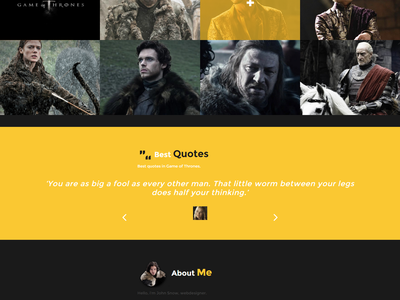 Game of Thrones - Redesign and Free Responsive HTML Template template css game of thrones redesign free responsive html laureaux didier